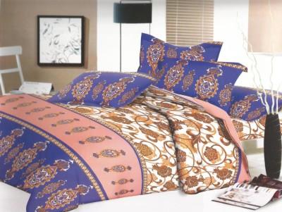 SHREEJEE Cotton Abstract Double Bedsheet