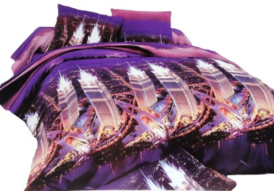 Amk Home Decor Polycotton Printed Queen sized Double Bedsheet