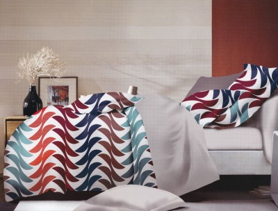 Strawberry Polycotton Abstract Double Bedsheet