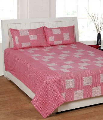 Swastik Traders Cotton Checkered Double Bedsheet