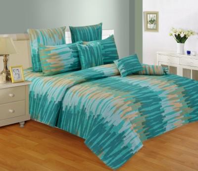 Salona Bichona Cotton Abstract Double Bedsheet