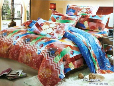 Night Gold Polycotton Abstract Double Bedsheet