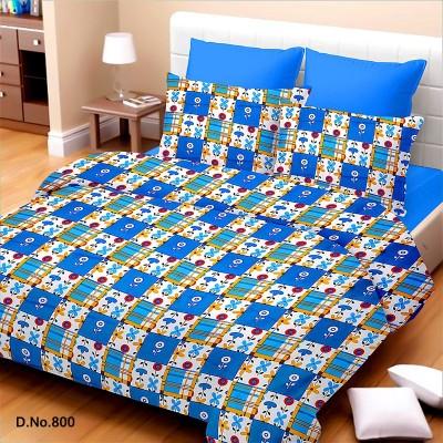 Vintana Cotton Geometric Queen sized Double Bedsheet