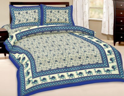 Bagru Crafts Cotton Printed Double Bedsheet