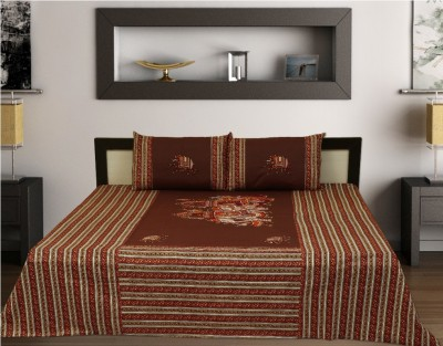 Sleepwell Cotton Text Print Double Bedsheet