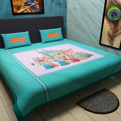 Kamla Enterprises Cotton Printed Queen sized Double Bedsheet
