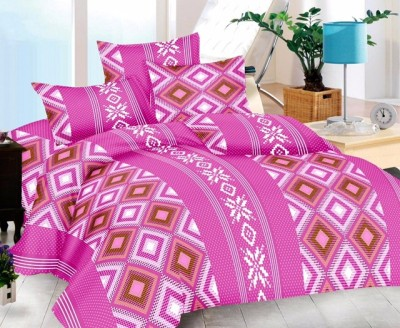 Urbano Homz Cotton Geometric Double Bedsheet