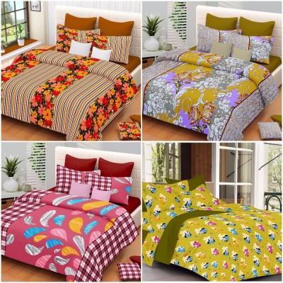 Modish Cotton Floral Double Bedsheet