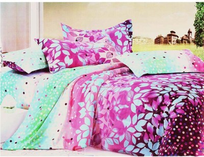 PROFTO Polyester 3D Printed Double Bedsheet