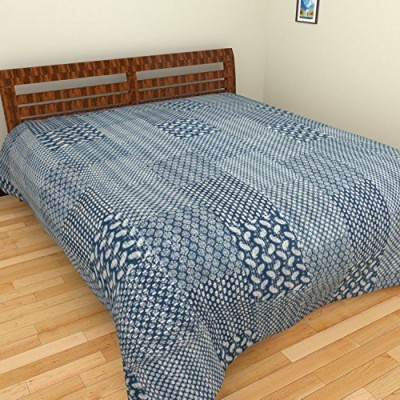 Rajkruti Cotton Checkered Double Bedsheet