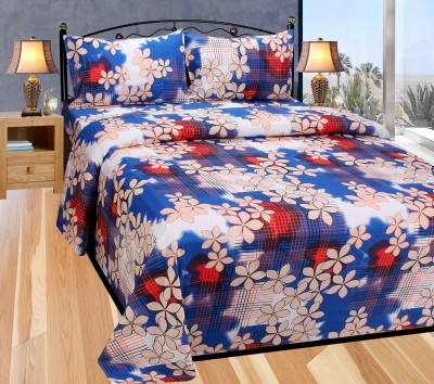 Balaji Texo Fab Cotton Abstract Double Bedsheet