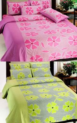 Sanaya Cotton Floral Double Bedsheet