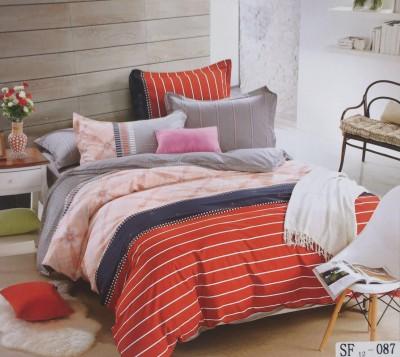 I-Dream Decor Cotton Geometric Double Bedsheet