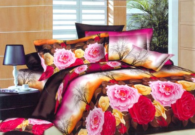 Butterfly Cotton Floral Double Bedsheet