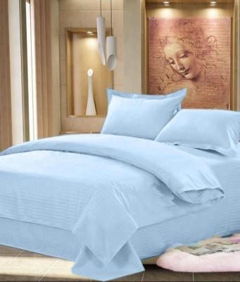 Attractivehomes Cotton Plain Double Bedsheet
