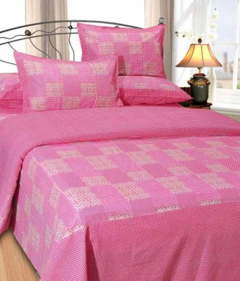 Madhav Products Cotton Floral Double Bedsheet