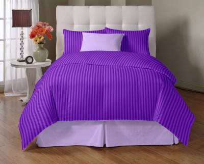 Vintana Satin Striped King sized Double Bedsheet