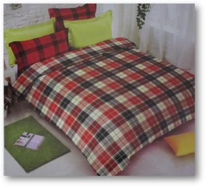 Sudesh Handloom Cotton Checkered King sized Double Bedsheet