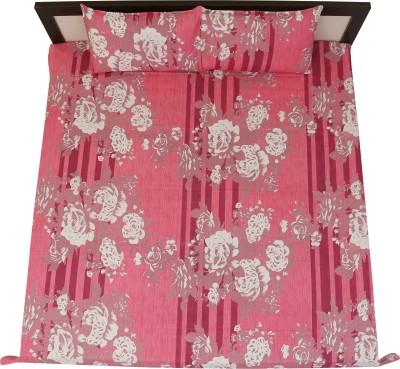 jaipur printex Cotton Floral King sized Double Bedsheet