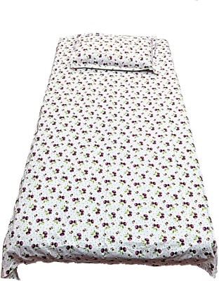 Addyz Cotton Floral Single Bedsheet