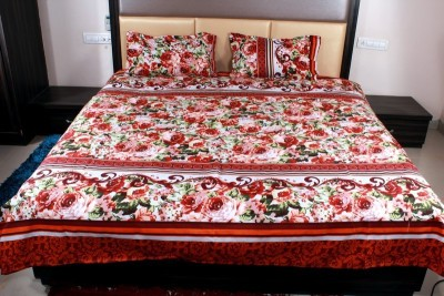 Aarav Collection Cotton Floral Double Bedsheet