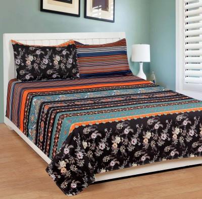 Shivalik Polycotton Geometric Double Bedsheet