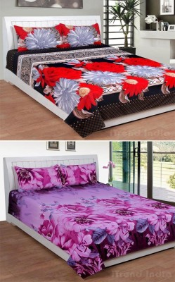 iTrend India Polycotton Printed Double Bedsheet