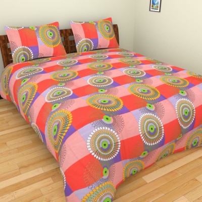 Parkash Fabrications Cotton Abstract Double Bedsheet