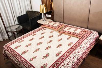Parvidvap Handicrafts Cotton Printed Double Bedsheet