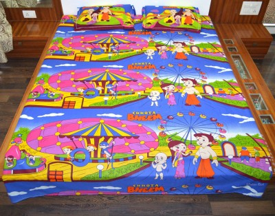 Indian Rack Cotton Printed Queen sized Double Bedsheet