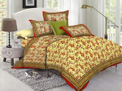 Lotus Cotton Floral Double Bedsheet