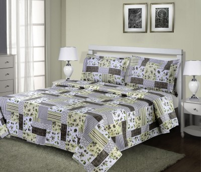 HEMLINES Satin Abstract Double Bedsheet