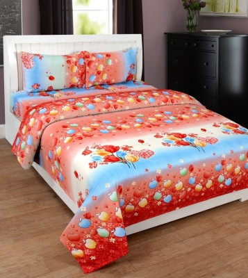 Super India Polycotton 3D Printed Double Bedsheet