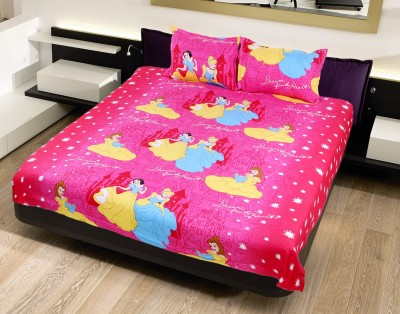 N DeCor Satin Abstract Double Bedsheet