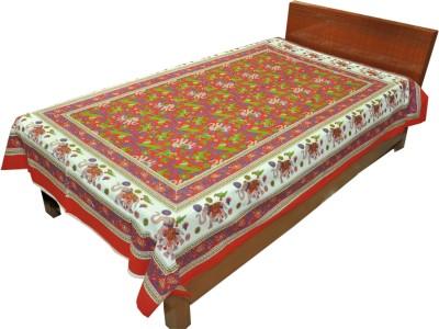 Artisan Creation Cotton Floral Single Bedsheet