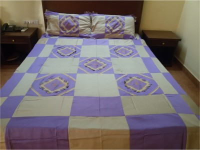 Asquarejodhpur Polycotton Embroidered Double Bedsheet