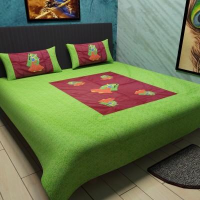 Kamla Enterprises Cotton Printed Double Bedsheet