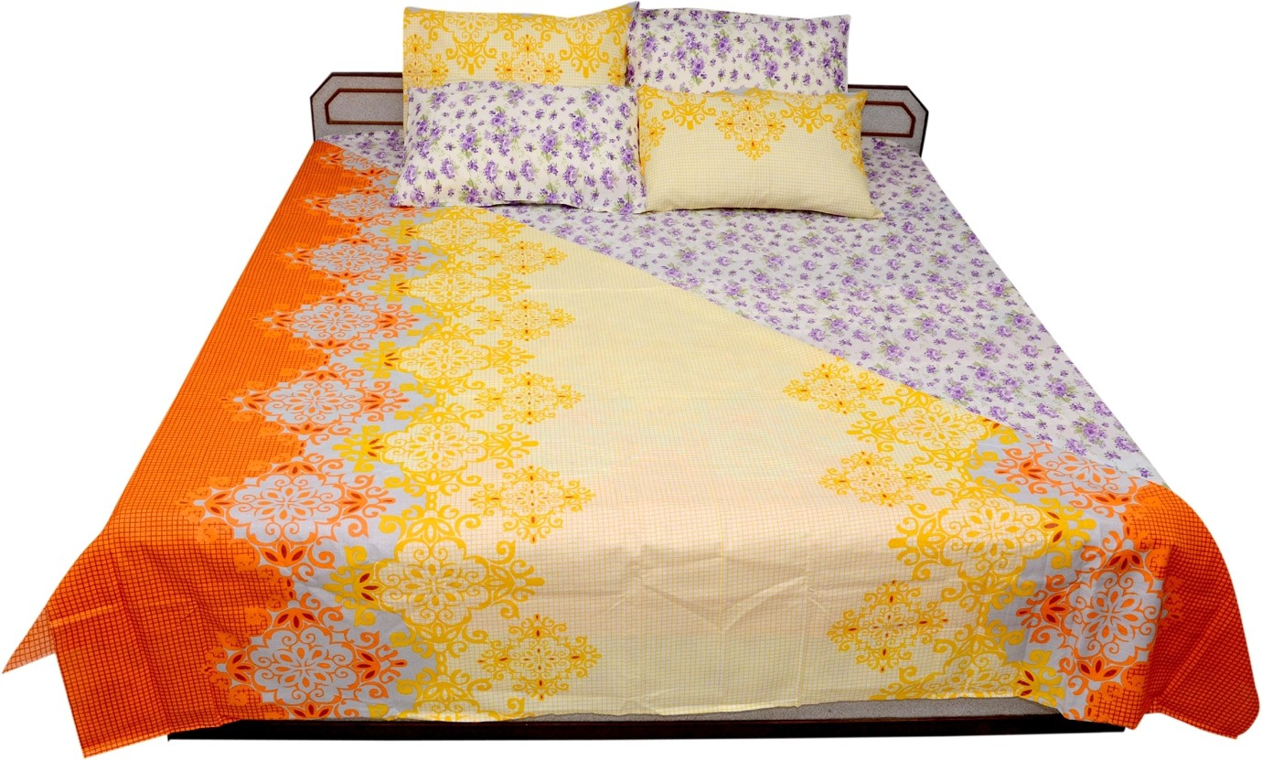 Sheetal Cotton Floral Double Bedsheet