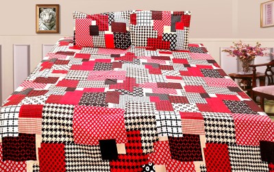 Bajaj Cotton Checkered Queen sized Double Bedsheet