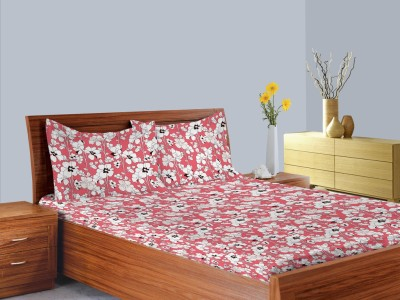 Welhome by Welspun Cotton Striped Double Bedsheet