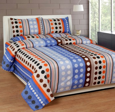 La Elite Polyester Abstract Queen sized Double Bedsheet