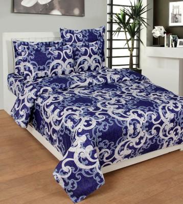 NIRWANA Polycotton Embroidered Double Bedsheet
