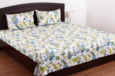 Jaipur Fabrics Cotton Floral Double Bedsheet