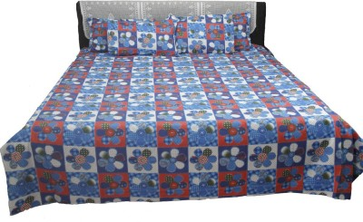 AZ Polycotton Geometric Double Bedsheet