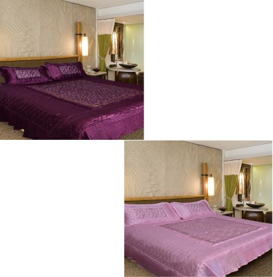 Chelsi Satin Abstract Double Bedsheet