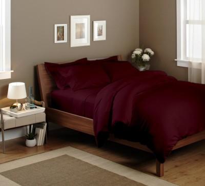 Elegant Bedware Cotton Plain King sized Double Bedsheet