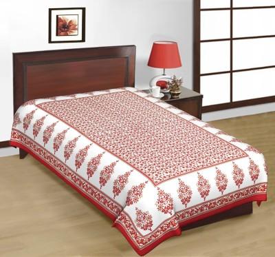 Shreeng Cotton Floral Single Bedsheet