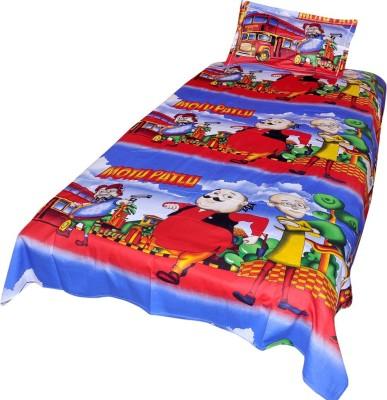 Animated&Florals Cotton Cartoon Single Bedsheet