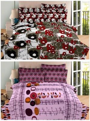 Always Plus Cotton Printed Double Bedsheet