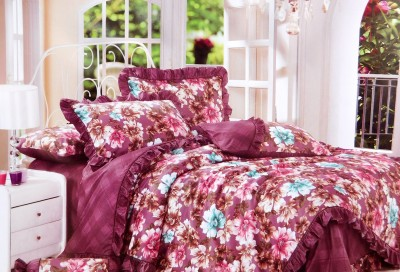 Indiano Cotton Floral Double Bedsheet